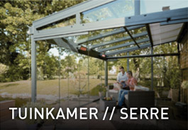Tuinkamer of serre van Vriesia Glas